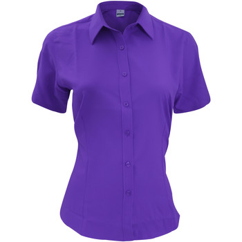 Kleidung Herren Kurzärmelige Hemden Henbury HB596 Violett
