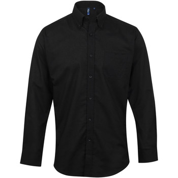 Kleidung Herren Langärmelige Hemden Premier PR234 Schwarz