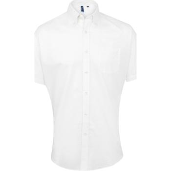 Kleidung Herren Kurzärmelige Hemden Premier PR236 Weiß