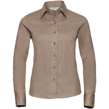 Kleidung Damen Hemden Russell J916F Khaki