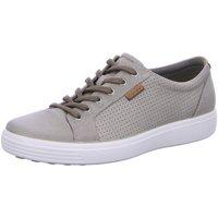 Schuhe Herren Sneaker Low Ecco Schnuerschuhe SOFT 7 430104/02459 grau