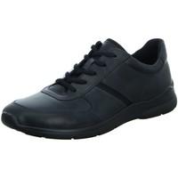 Schuhe Herren Sneaker Low Ecco Schnuerschuhe Schnürhalbschuh sportlicher Boden Casual  IRVING 5 schwarz