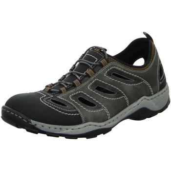 Schuhe Herren Sandalen / Sandaletten Rieker Offene Sandalette Ferse geschlossen 08065-02 grau