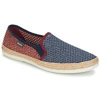 Schuhe Herren Leinen-Pantoletten mit gefloch Bamba By Victoria ANDRE ELASTICOS REJILLA BICO Blau / Rot