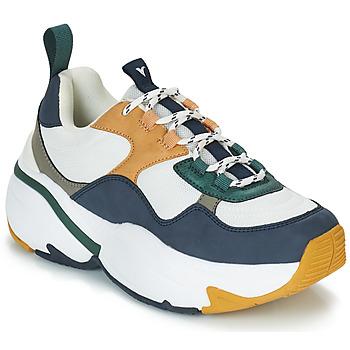 Schuhe Damen Sneaker Low Victoria SNEAKER MALLA/MULTIMATERIAL Weiss / Marine