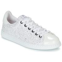 Schuhe Damen Sneaker Low Victoria TENIS GLITTER Weiss