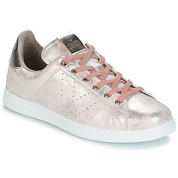 Schuhe Damen Sneaker Low Victoria TENIS METALIZADO Rose