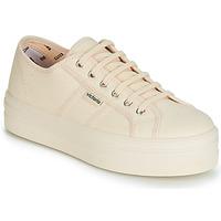 Schuhe Damen Sneaker Low Victoria BARCELONA LONA MONOCROMO Beige