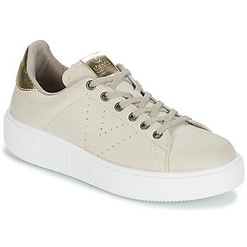Schuhe Damen Sneaker Low Victoria UTOPIA RELIEVE ANTELINA Beige