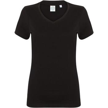 Kleidung Damen T-Shirts Skinni Fit SK122 Schwarz
