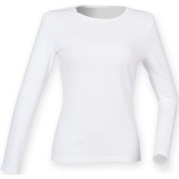 Kleidung Damen Langarmshirts Skinni Fit SK124 Weiß