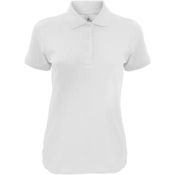 Kleidung Damen Polohemden B And C Safran Weiß