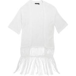 Kleidung Damen Strickjacken Brave Soul Kimono Weiß