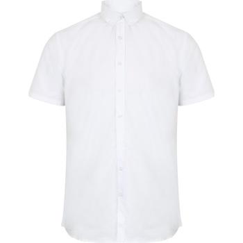 Kleidung Herren Kurzärmelige Hemden Henbury HB517 Weiß