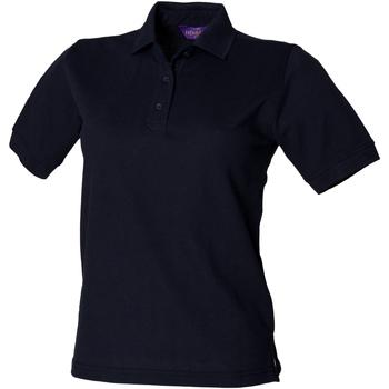 Kleidung Damen Polohemden Henbury HB401 Marineblau