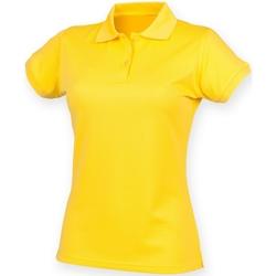 Kleidung Damen Polohemden Henbury Coolplus Gelb