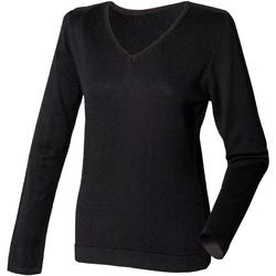 Kleidung Damen Pullover Henbury HB721 Schwarz