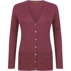 Kleidung Damen Strickjacken Henbury Fine Knit Burgunder