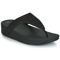 Schuhe Damen Zehensandalen FitFlop LOTTIE GLITZY Schwarz
