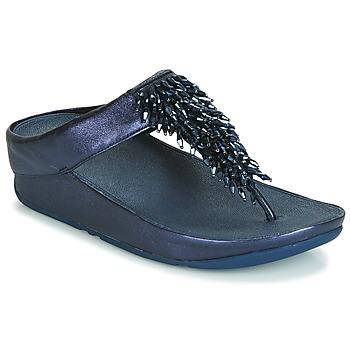Schuhe Damen Zehensandalen FitFlop RUMBA TOE THONG SANDALS Blau