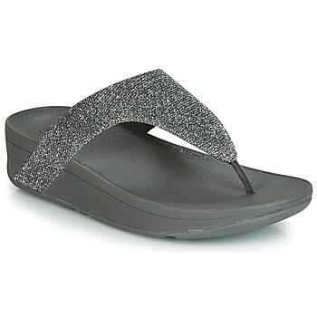 Schuhe Damen Zehensandalen FitFlop LOTTIE GLITZY Silbern