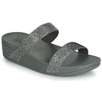 Schuhe Damen Pantoffel FitFlop LOTTIE GLITZY SLIDE Silbern