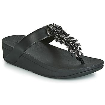 Schuhe Damen Zehensandalen FitFlop JIVE TREASURE Schwarz