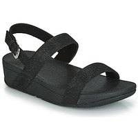Schuhe Damen Pantoffel FitFlop LOTTIE GLITZY BACKSTRAP SANDAL Schwarz