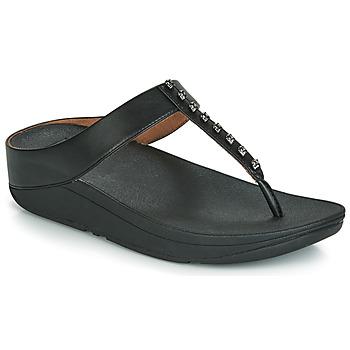 Schuhe Damen Zehensandalen FitFlop FINO TREASURE Schwarz