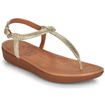 Schuhe Damen Zehensandalen FitFlop TIA Gold