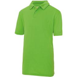 Kleidung Kinder Polohemden Awdis JC40J Limette