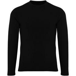 Kleidung Jungen Langarmshirts Tridri TR16B Schwarz