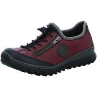 Schuhe Damen Sneaker Low Rieker Slipper Slipper Halbschuh Casual M6269-00 rot