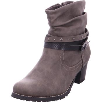 Schuhe Damen Low Boots Idana Schlupf- RV-Stiefelette glatte GREY 204
