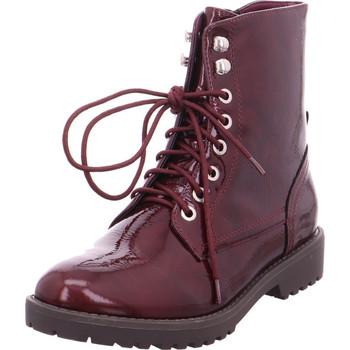 Schuhe Damen Low Boots Stiefelette Damen rot