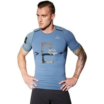 Kleidung Herren T-Shirts Reebok Sport Combat Rash Guard Blau