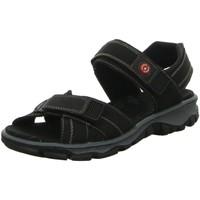 Schuhe Damen Sportliche Sandalen Rieker Sandaletten Sandalette 68851-00 schwarz