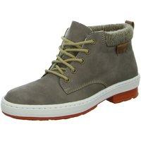 Schuhe Damen Schneestiefel Rieker Stiefeletten L6742-64 beige