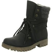 Schuhe Damen Schneestiefel Rieker Stiefeletten 78531-00 schwarz