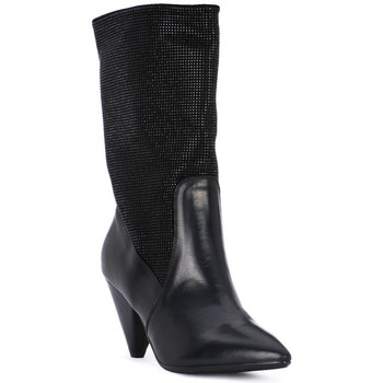 Schuhe Damen Ankle Boots Juice Shoes TEVERE NERO STRASS NERI Nero
