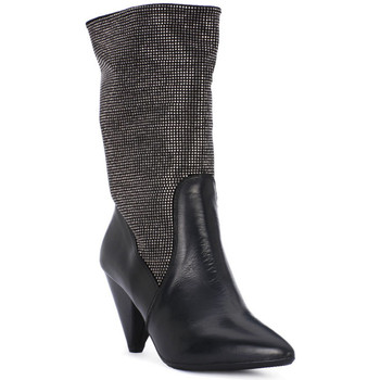 Schuhe Damen Ankle Boots Juice Shoes TEVERE NERO STRASS CANNA DI FUCILE Grigio