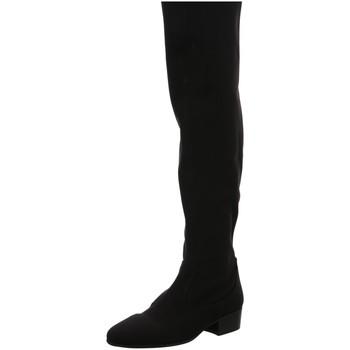Schuhe Damen Kniestiefel Diverse Stiefel NV Trendy-1 schwarz