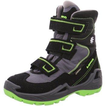 Schuhe Jungen Sneaker High Lowa Klettstiefel Milo GTX High Stiefel Outdoor grün 650540-9903 schwarz