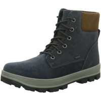 Schuhe Jungen Boots Superfit Schnuerstiefel WF blau