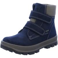 Schuhe Jungen Sneaker High Superfit Klettstiefel 1-00472-81 blau