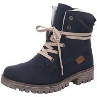 Schuhe Damen Wanderschuhe Rieker Stiefeletten fests. 78550-14 blau