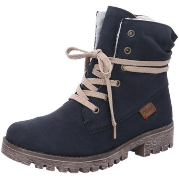 Schuhe Damen Wanderschuhe Rieker Stiefeletten 78550-14 blau