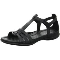 Schuhe Damen Sandalen / Sandaletten Ecco Sandaletten Sandalette FLASH 240873 53859 schwarz