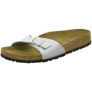 Schuhe Damen Pantoffel Birkenstock Pantoletten Madrid 40413 silber