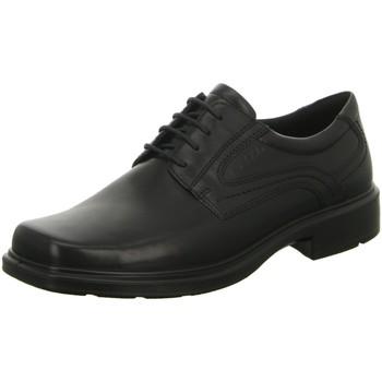 Schuhe Herren Sneaker Low Ecco Business Schnürhalbschuh Komfort sportlicher und eleganter Boden schwarz